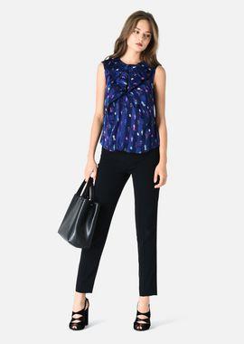Armani Tops Women sleeveless top in pekin silk with maquette pattern
