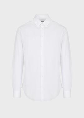 Armani Casual Shirts Men classic collar cotton shirt