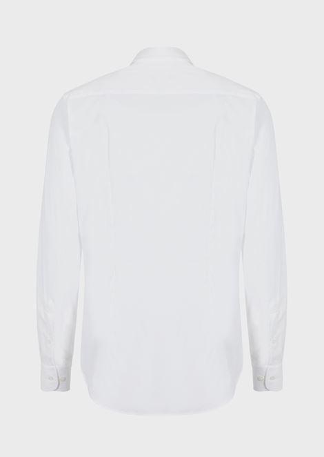 CLASSIC COLLAR STRETCH COTTON BLEND SHIRT: Casual Shirts Men by Armani - 4