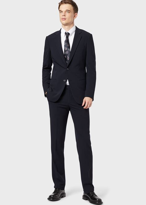 CLASSIC COLLAR STRETCH COTTON BLEND SHIRT: Casual Shirts Men by Armani - 2