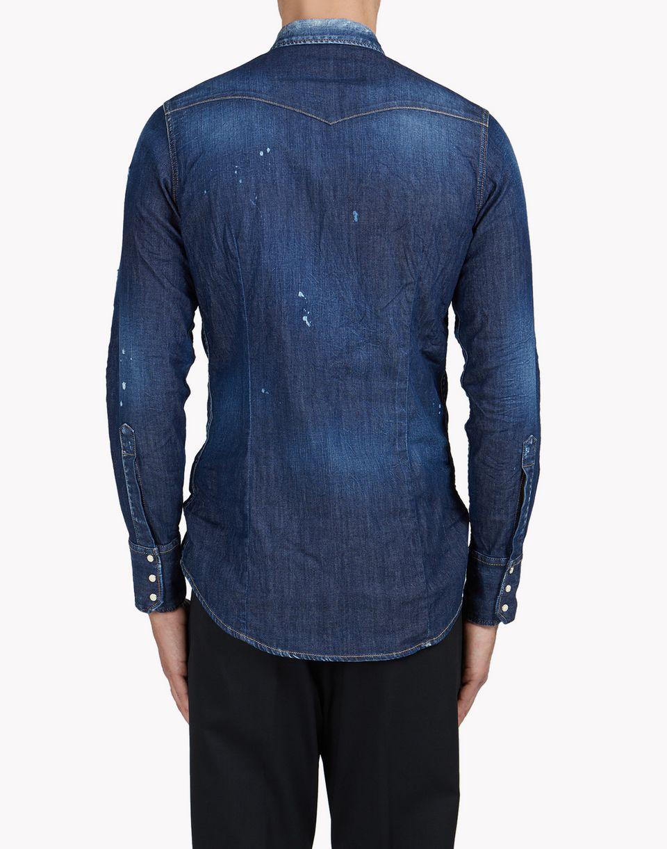western denim shirt shirts Man Dsquared2