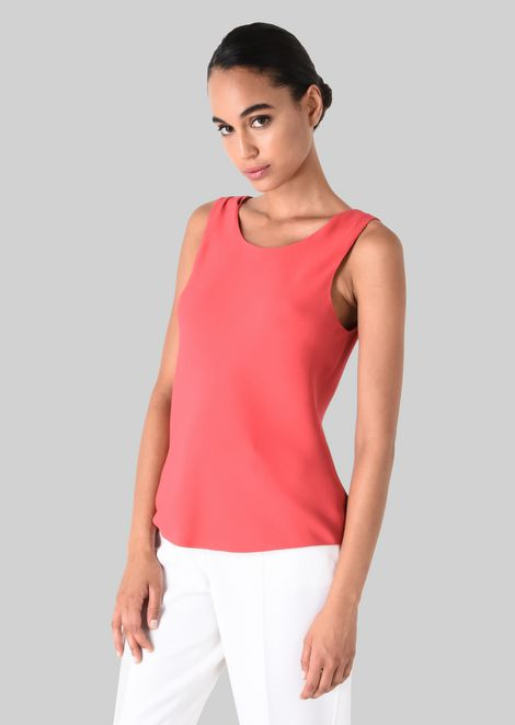 SILK CADY TOP: Tops Women by Armani - 3