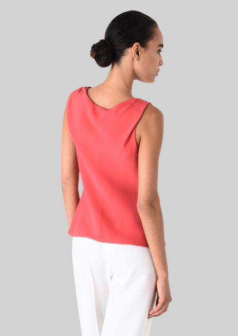 SILK CADY TOP: Tops Women by Armani - 4