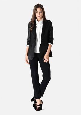 Armani Casual Shirts Women cotton poplin shirt with satin trim