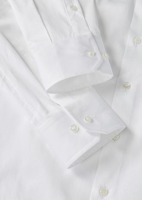 FRENCH COLLAR COTTON TWILL SHIRT: Classic Shirts Men by Armani - 5