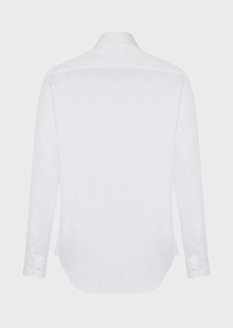 FRENCH COLLAR COTTON TWILL SHIRT: Classic Shirts Men by Armani - 4