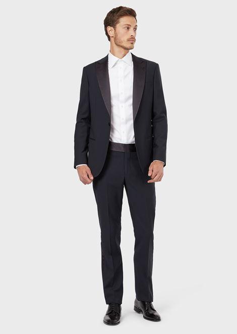 FRENCH COLLAR COTTON TWILL SHIRT: Classic Shirts Men by Armani - 2
