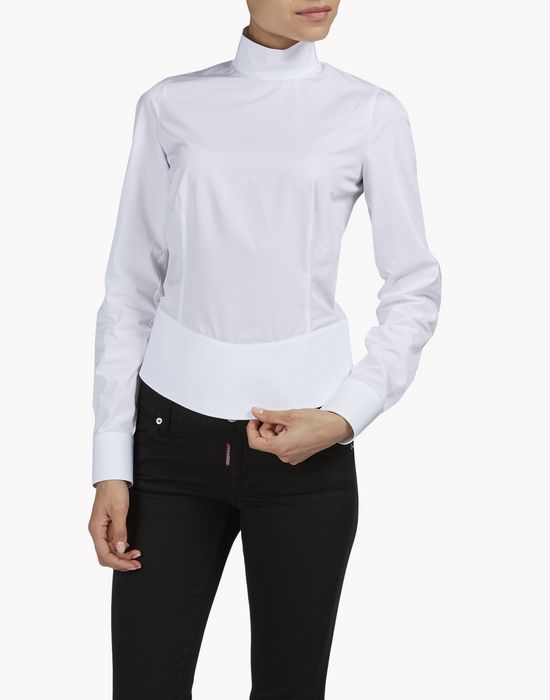 amish back-zip shirt shirts Woman Dsquared2