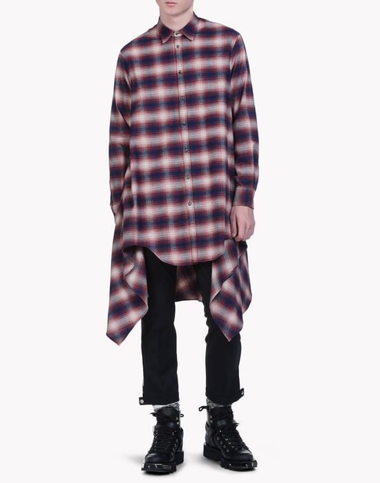 check cotton blanket shirt рубашки Для Мужчин Dsquared2