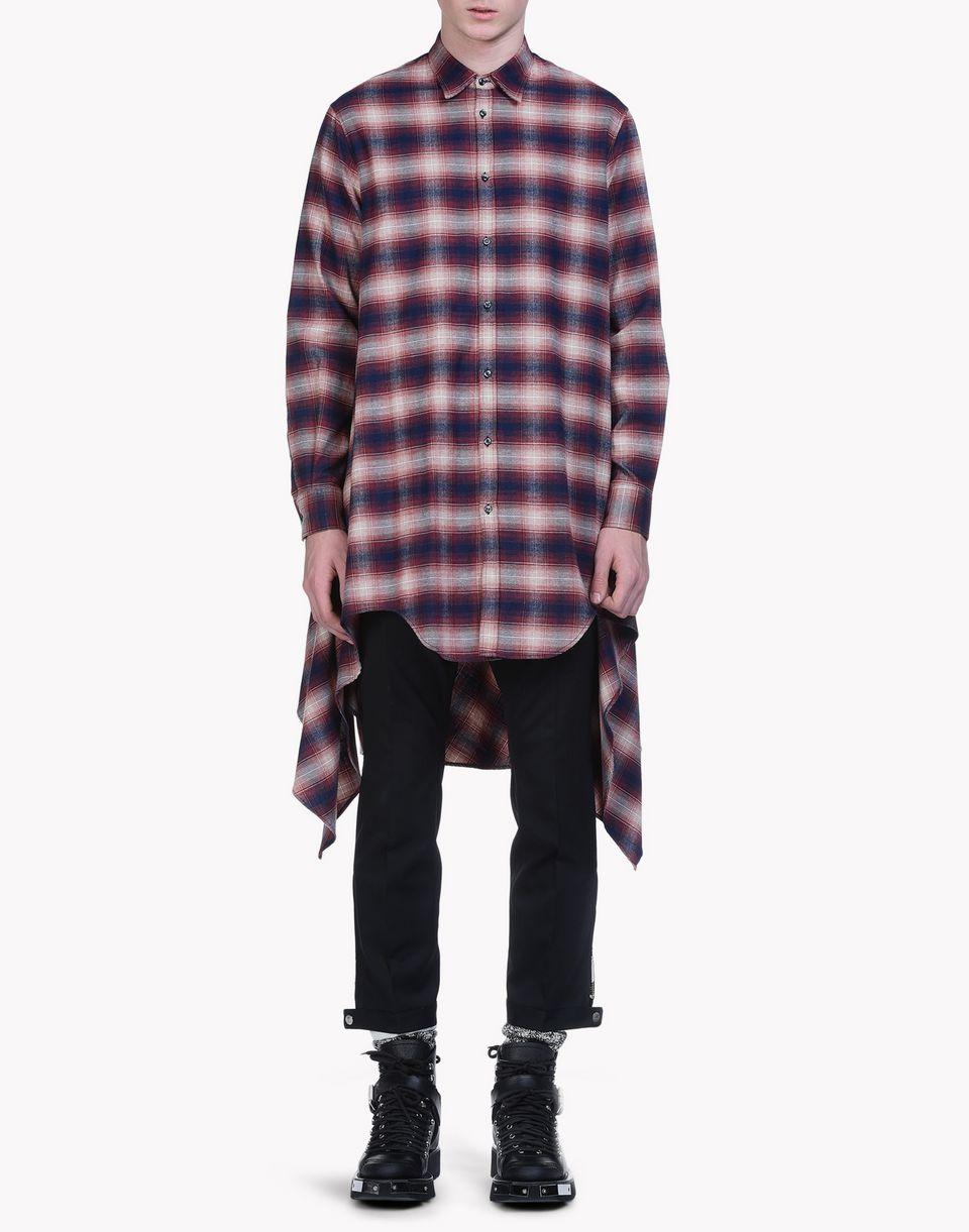 check cotton blanket shirt hemden Herren Dsquared2