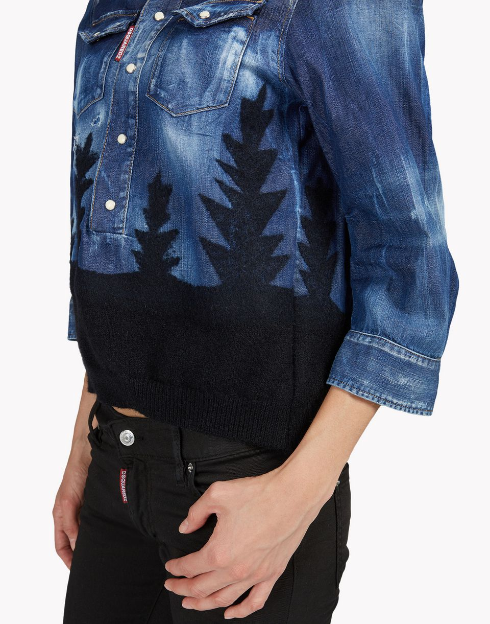 denim forest shirt hemden Damen Dsquared2