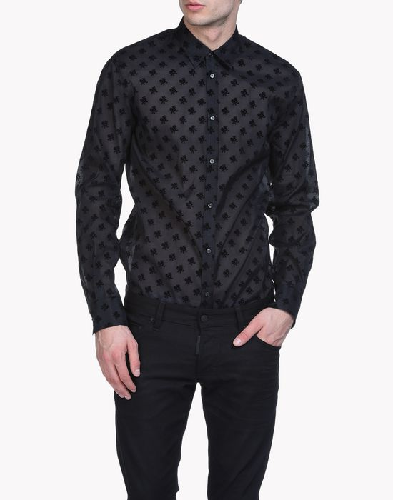 flocked organza relax dan shirt рубашки Для Мужчин Dsquared2