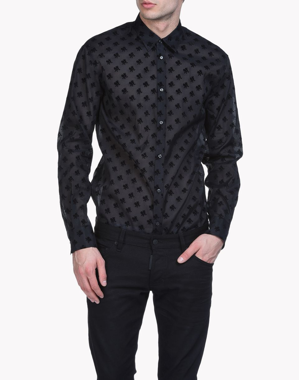 flocked organza relax dan shirt shirts Man Dsquared2
