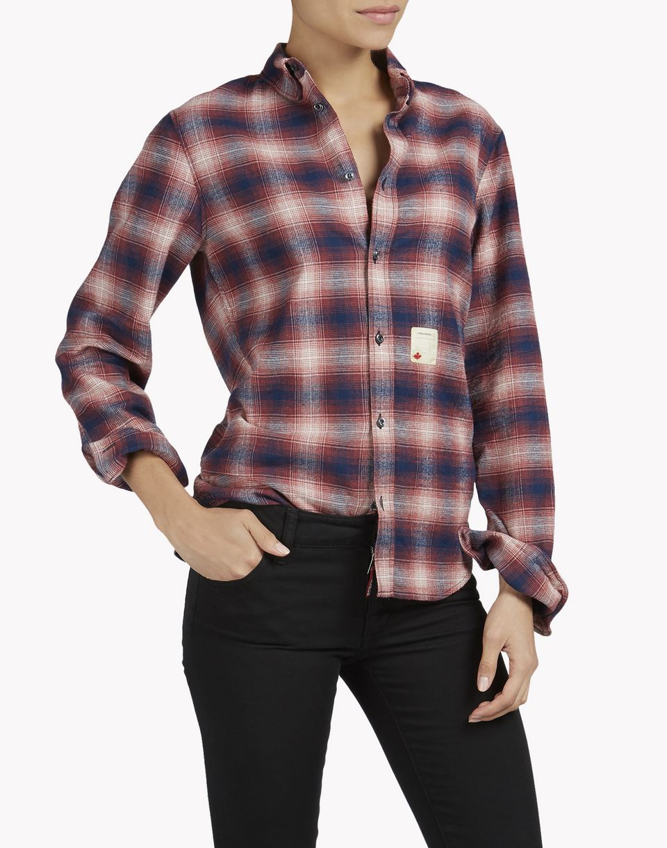 check wired-neck shirt shirts Woman Dsquared2