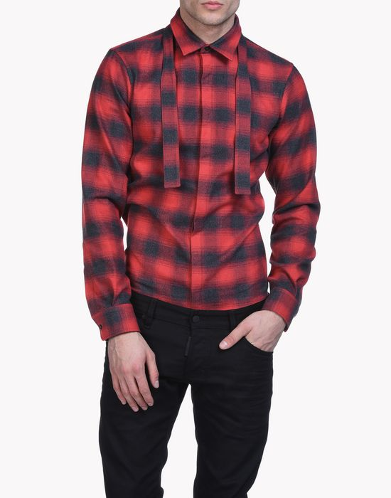 check carpenter bow shirt shirts Man Dsquared2