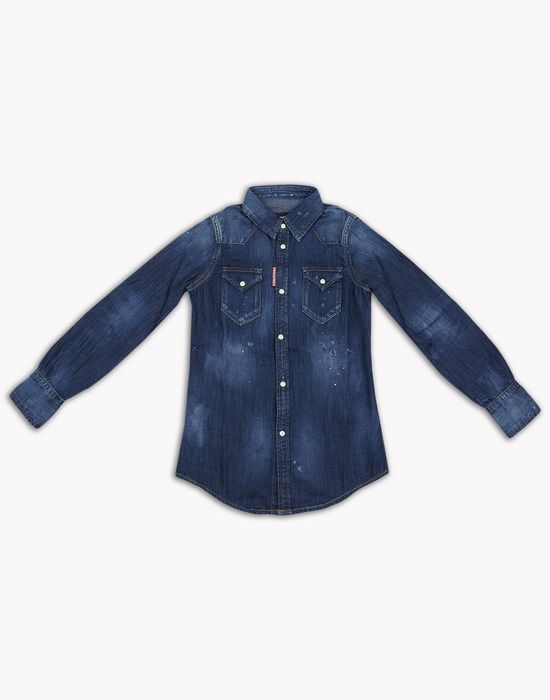 western denim shirt camicie Uomo Dsquared2