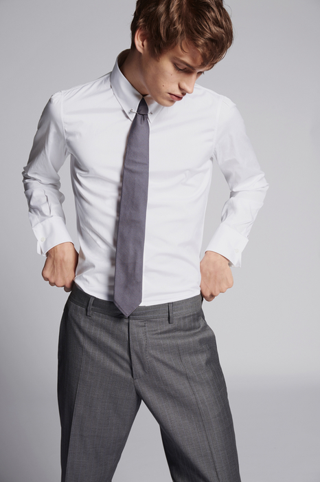 slim fit poplin shirt shirts Man Dsquared2