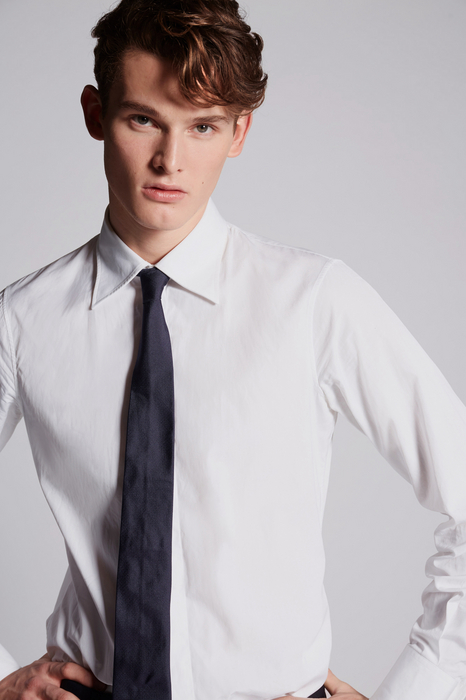 cotton poplin slim shirt shirts Man Dsquared2