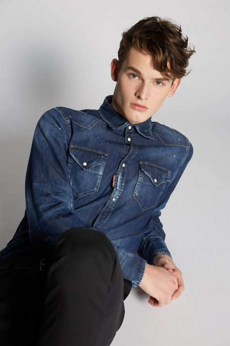 western denim shirt shirts Man Dsquared2