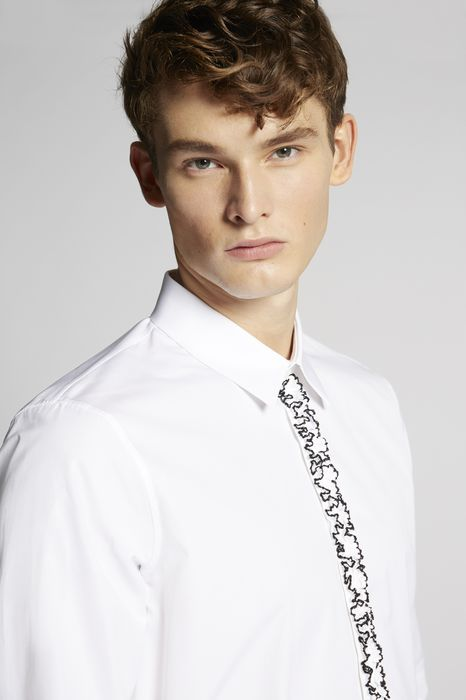 poplin slim shirt shirts Man Dsquared2