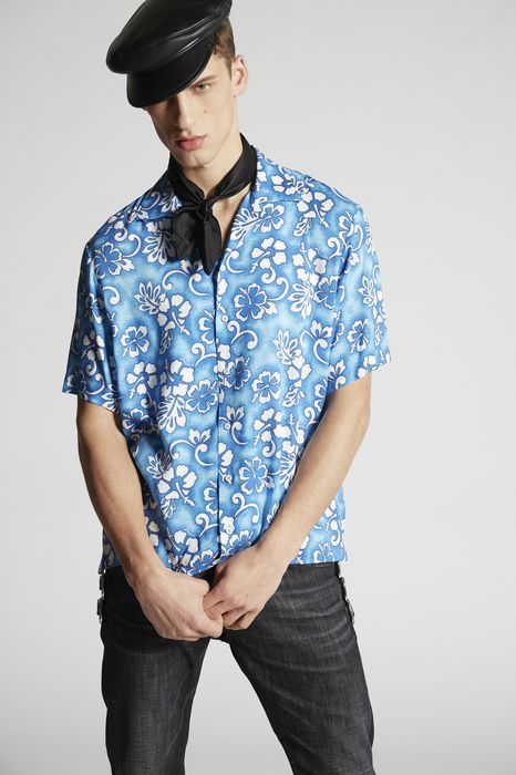 hibiscus rocker shirt shirts Man Dsquared2