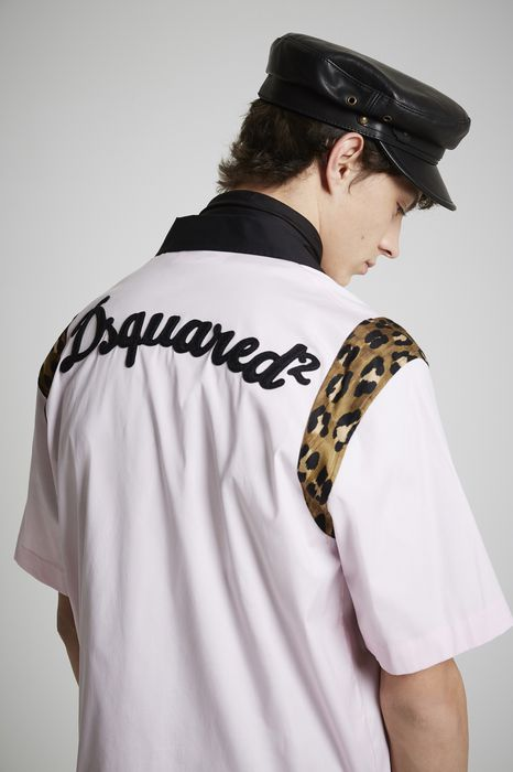 poplin safari bowling shirt shirts Man Dsquared2