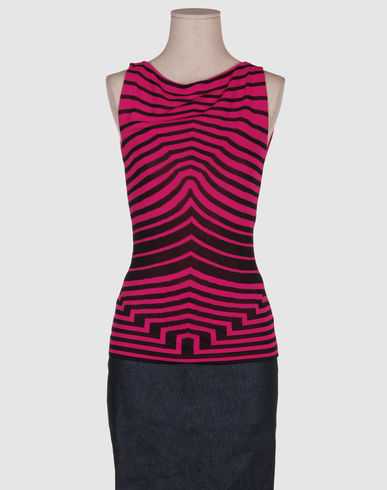 McQ Women - Sweaters - Sleeveless sweater McQ on YOOX :  pink black top alexander mcqueen