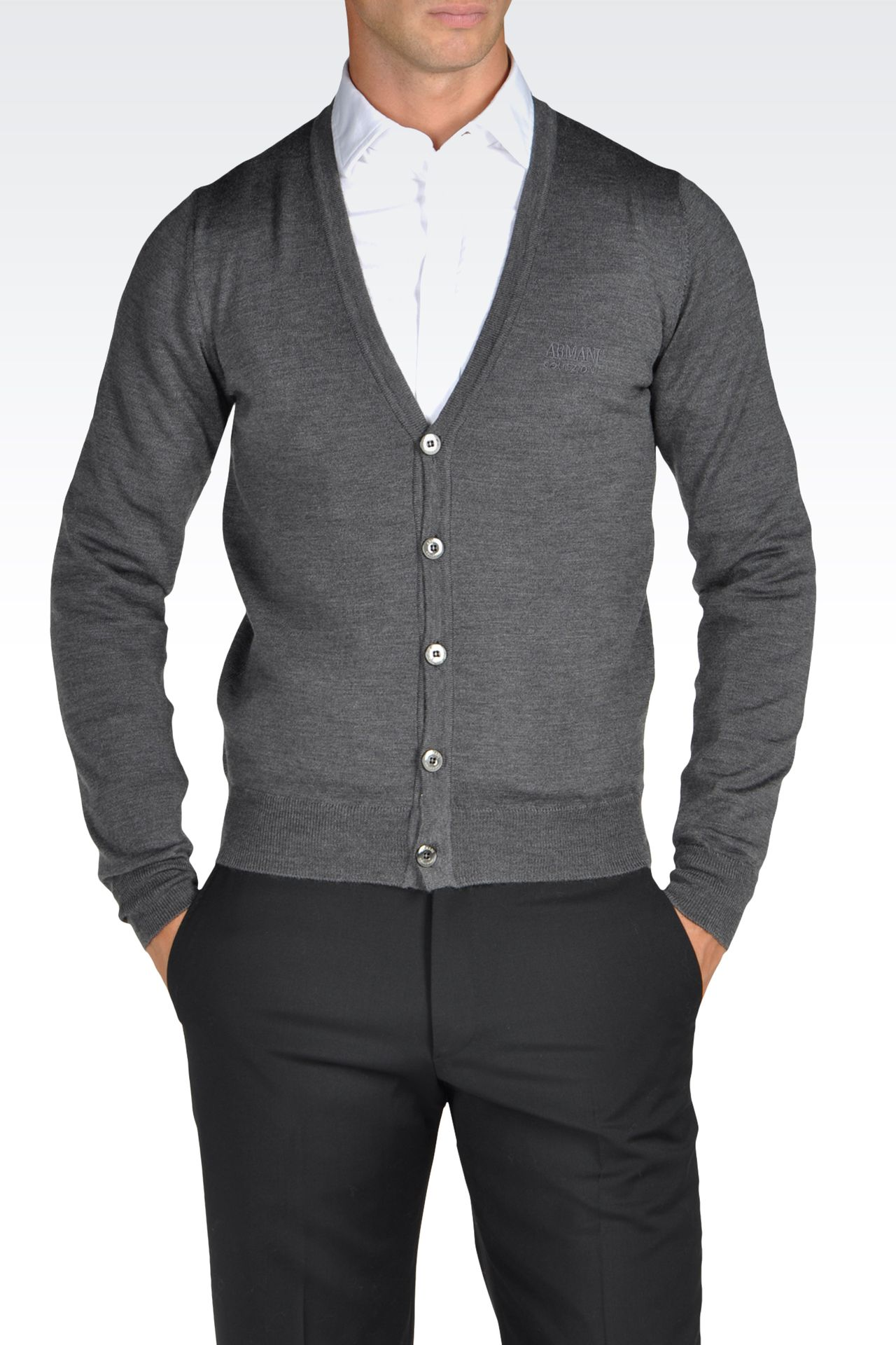 Knitwear: Cardigans Men by Armani - 0