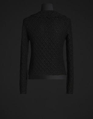 Crochet silk cardigan - Cardigans - Dolce&Gabbana - Summer 2016