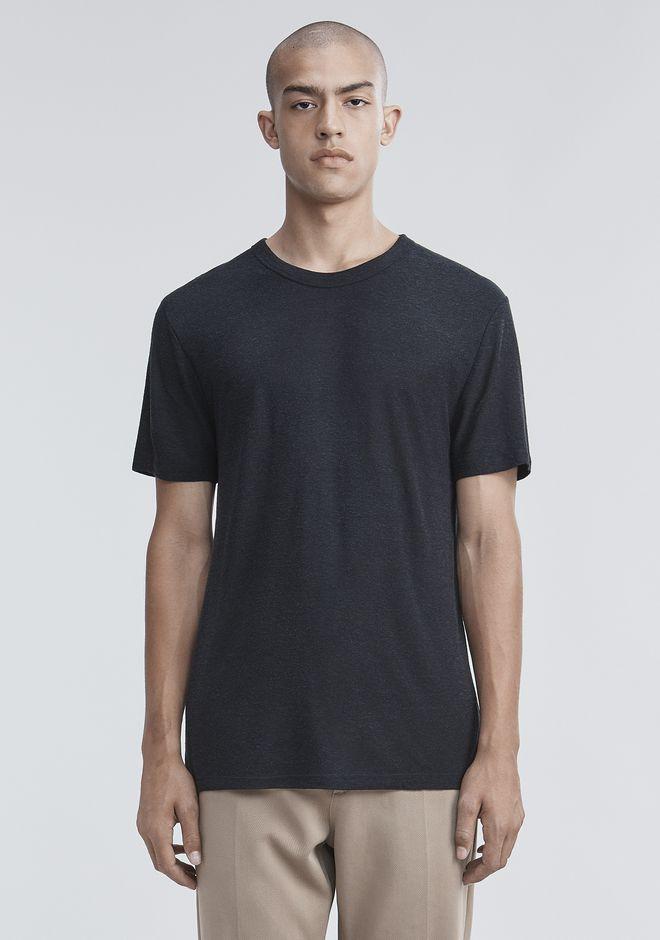 T by ALEXANDER WANG Short sleeve t-shirts Men SLUB RAYON SILK CREWNECKTEE