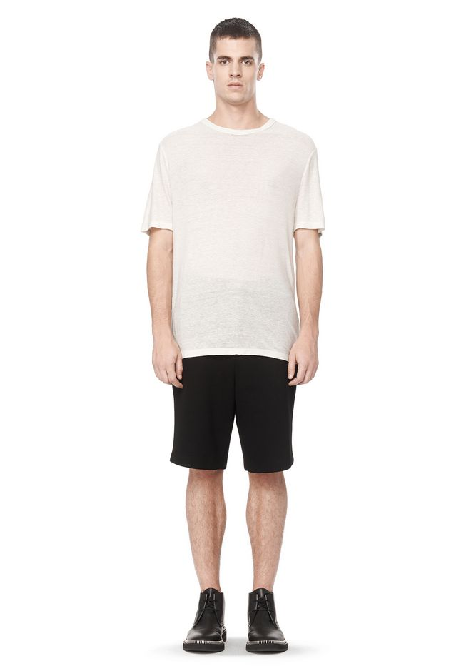 T by ALEXANDER WANG SLUB RAYON SILK CREWNECKTEE Short sleeve t-shirt Adult 12_n_f