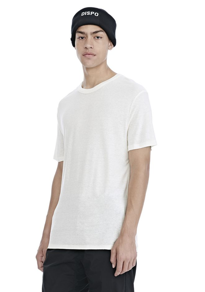T by ALEXANDER WANG SLUB RAYON SILK CREWNECKTEE Short sleeve t-shirt Adult 12_n_a