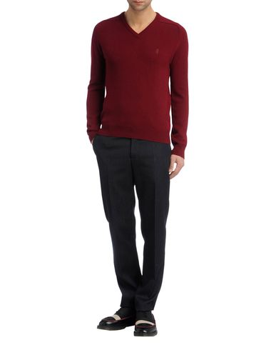 Contrast Lambswool V-Neck