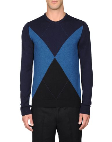 Three-Colour Argyle Sweater