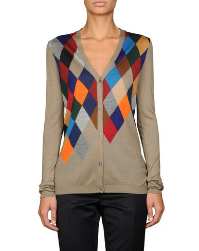 Argyle-Front Cardigan