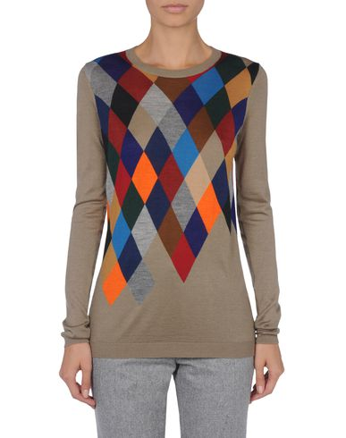 Argyle-Front Sweater