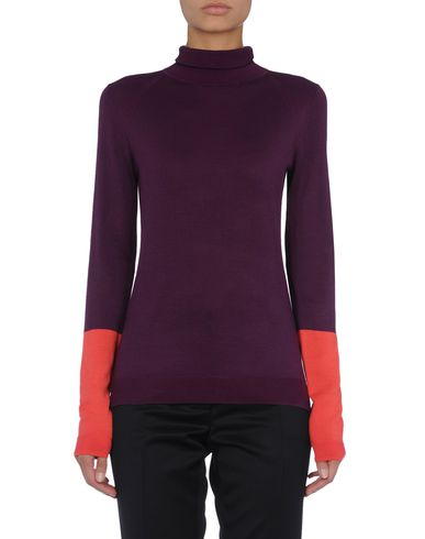 Contrast Sleeve Roll-Neck