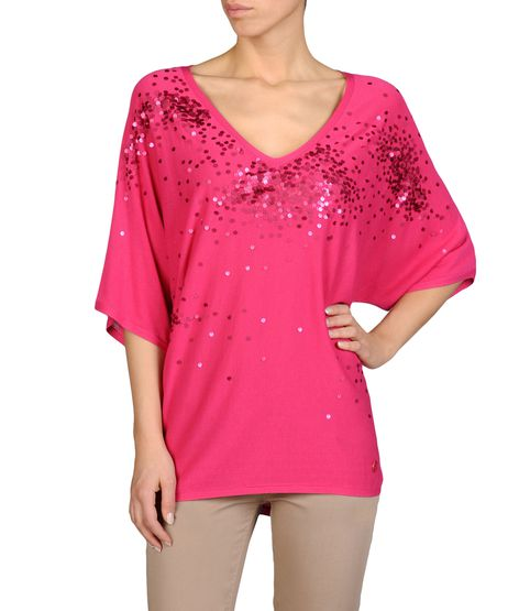 BATWING SWEATER WITH SEQUINS