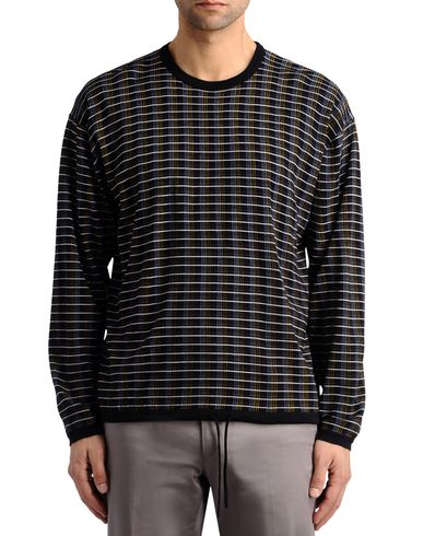 Striped Check Long-Sleeved Tee