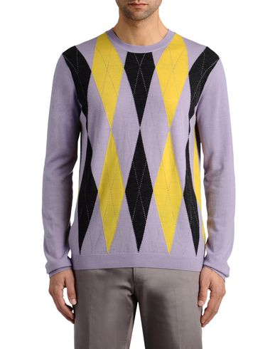 Elongated Argyle Sweater