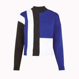STELLA McCARTNEY, Sweater, Camelia Jockey Colors Roll Neck Jumper