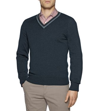 ERMENEGILDO ZEGNA: Cashmere sweater Brown - 39372230VC