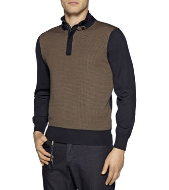 ERMENEGILDO ZEGNA: High Neck Blue - 39372231WF
