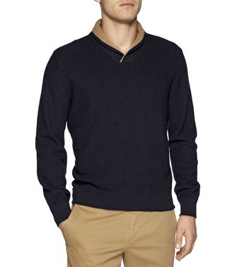 ERMENEGILDO ZEGNA: V-neck Dark brown - 39375985AP