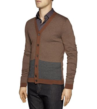 ZZEGNA: Cardigan Dark brown - 39376857IE