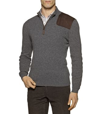 ERMENEGILDO ZEGNA: High Neck Grey - 39377035XB