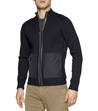 ZEGNA SPORT: Cardigan Nero - 39377037PS