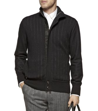 ERMENEGILDO ZEGNA: Fabric Jacket Black - Dark brown - 39377038KS