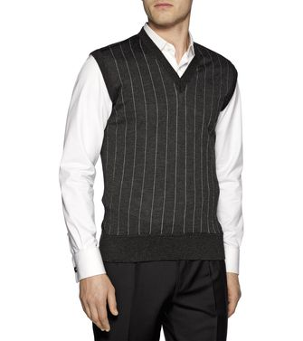 ERMENEGILDO ZEGNA: Sleeveless Jumper Steel grey - 39377040ku