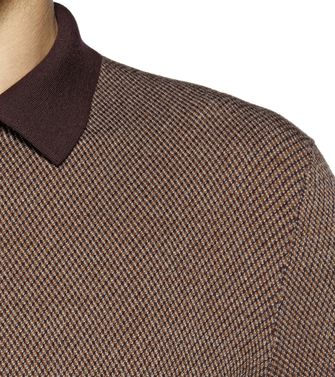 ERMENEGILDO ZEGNA: Polo-neck Brown - 39377048IG